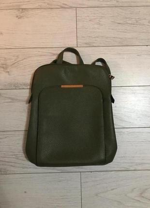 Кожаный рюкзак h&m