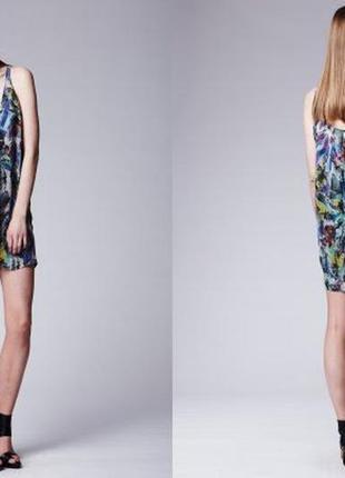 Шикарное дизайнерское шелковое платье от acne! p.-40