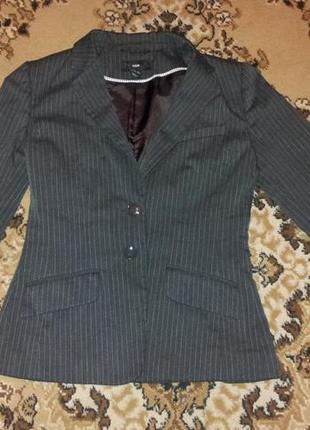 Пиджак жакет полоска h&m