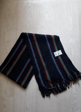 Шарф шерстяной  wool mark&spencer m&s