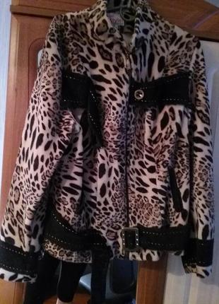 Куртка леопард 40 размер