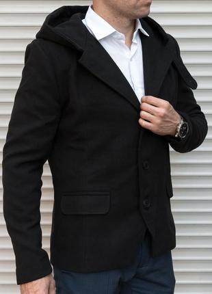 Пальто тренч молодежный, черного цвета