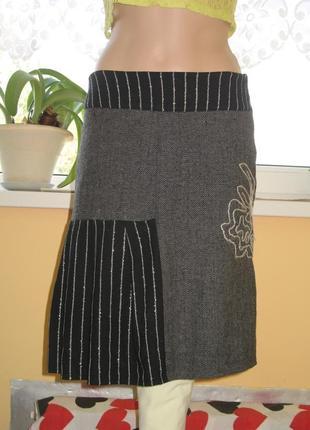 Оригинальная теплая юбка
