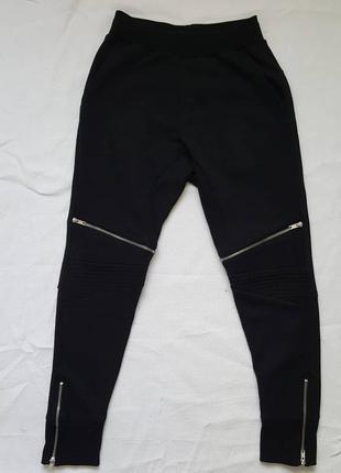 Мужские спортивные штаны с молниями на коленах  zara man