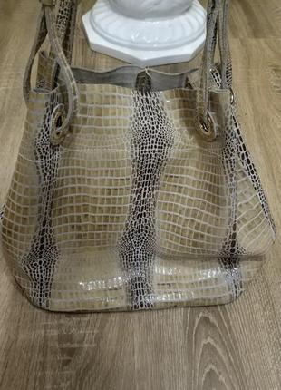 Натуральная кожаная сумка