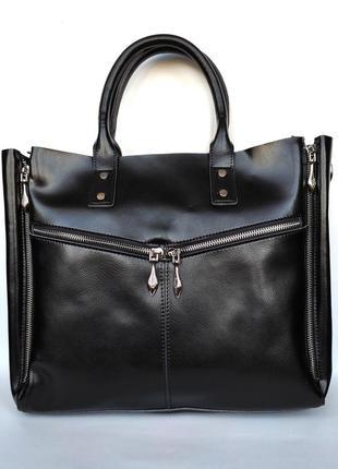 """Женская кожаная сумка """"margaret"""" черная"""