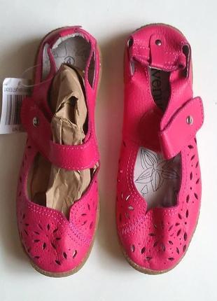 Новые стильные кожаные босоножки сандали на липучке, летние туфли, стелька 24см