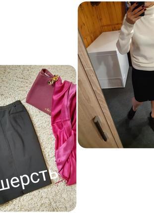 Классическая черная юбка карандаш/шерсть, bianco, p. 36