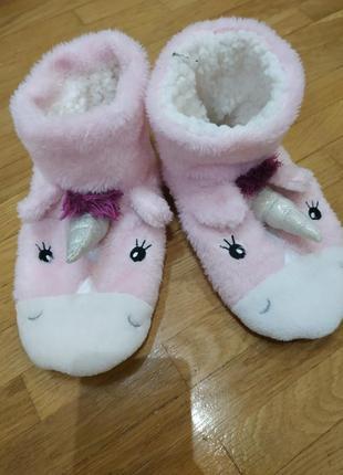 Тапочки домашние, тапочки- уги, тапочки-носки единороги на 37-38 р, 24 см стелька