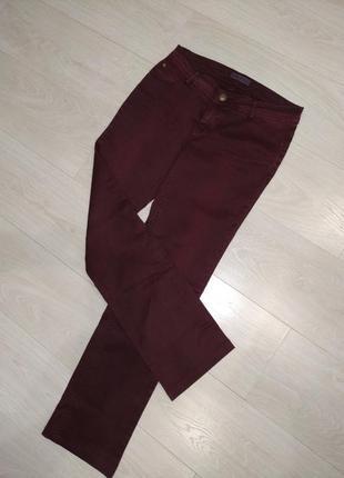 Бордовые джинсы с эффектом пуш ап #розвантажуюсь