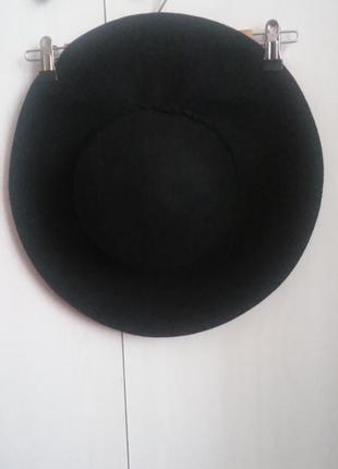 Шляпа фетровая шерсть широкие поля