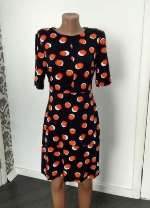 Warehouse   платье в горошек. 73% вискоза