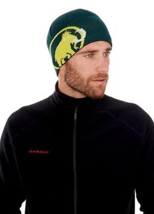 Шерстяная тёплая шапка спортивная лыжная шапочка на флисе принт логотип оригинал
