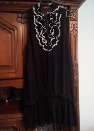 Романтичне англійське плаття/туніка з ніжними рюшками