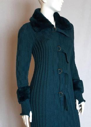 Вязаное шерстяное пальто vitrin, размер m-l