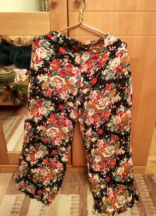 Широкие брюки-юбка в циганских цветах