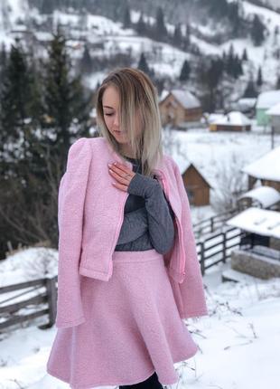 Розовый тёплый костюм