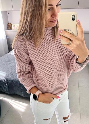 Крутой теплый свитер шерсть цвета в асортименте