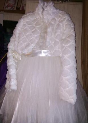 Платье с полушубком