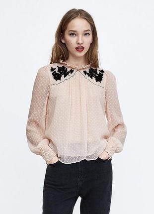 Блуза , блузка кружевная сеточка zara