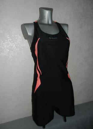 48-50/l-xl soc,германия!черный купальник с шортами для плавания,для бассейна,новый