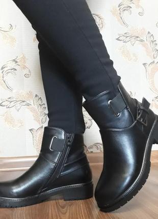 Акція !!! жіночі демісезонні напівчобітки (ботинки) розмір 36, 37, 39, 40, 41.3 фото