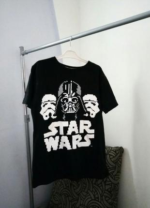 Крутая удлиненная футболка star wars