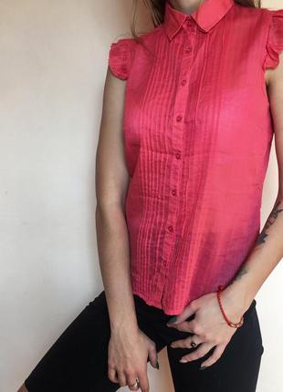 Рубашка колинс colin's короткие рукава новая блуза блузка рубаха
