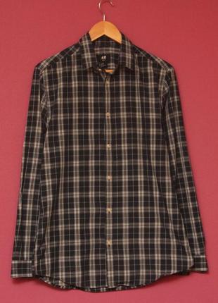 H&m рр m slim fit приталеная рубашка из хлопка