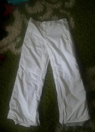 Шикарные белые женские лыжные штаны