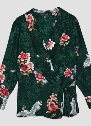 Блуза кимоно zara оригинал