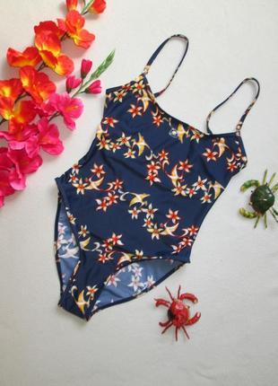 Милый сдельный купальник в цветочный принт с жар птицей франция.