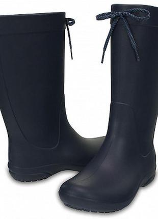«резиновые сапоги» женские crocs women's freesail rain boot w 6 8 11