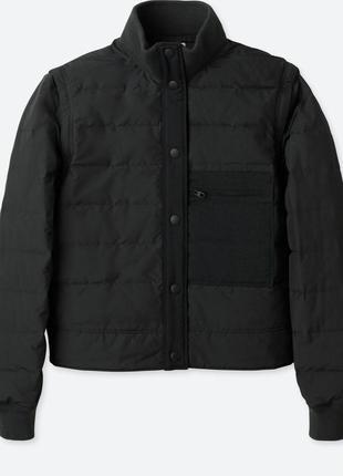 Women uniqlo u бесшовная спортивная куртка!наполнение: 90% пух, 10% перья
