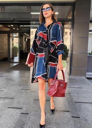 Платье рубашка геометрия