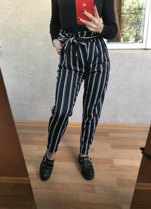 Misspap!!! нові брючки в актуальну полоску! оригінал! брюки. штани. штанці. класичні штани