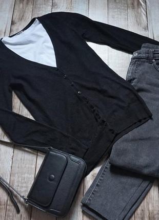 Базовая черная кофта кардиган stradivarius
