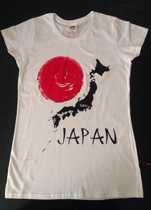 """Яркая стильная футболка с принтом """"карта японского ахрипелага"""""""