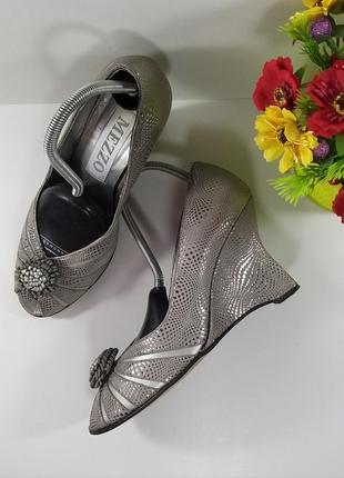 Скидка до 18.00👌успейте купить🤗шикарные туфли с открытым носком на танкетке