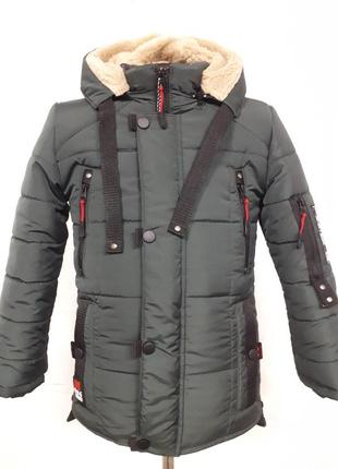 Зимняя куртка подростковая м-17 на рост от 128 - 158