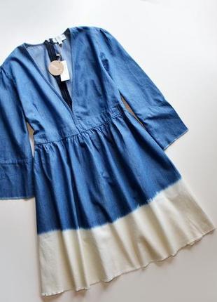 Легкое джинсовое платье с омбре