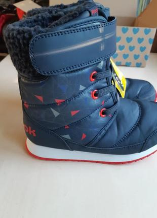 Фирменные зимние ботинки reebok snow prime р-р31.5.распродажа!!!