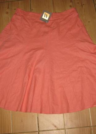 "Новая юбка ""bhs"" р.52 лен 59% пояс-резинка"