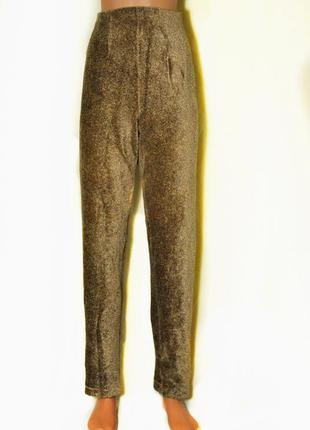 Стильные, штаны заужены к низу.велюр.для пышных форм