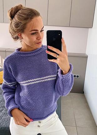 Вязаный свитер в составе шерсть много цветов в ассортименте