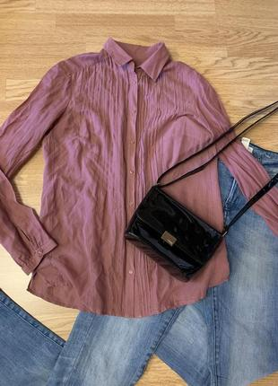 Фирменная хлопковая рубашка massimo dutti,легкая блуза,блузочка