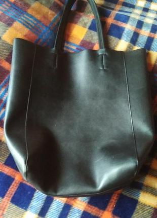 Шкіряна велика сумка