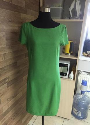 Изумрудное платье zara