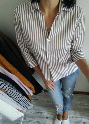 Стильная рубашка в полоску от marco pessi