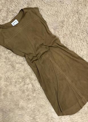 Крутое замшевое платье karen by simonsen💔